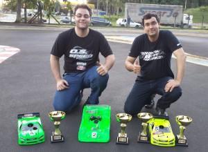 Campeões 1:10 e 1:8 (Cesar e Demian)