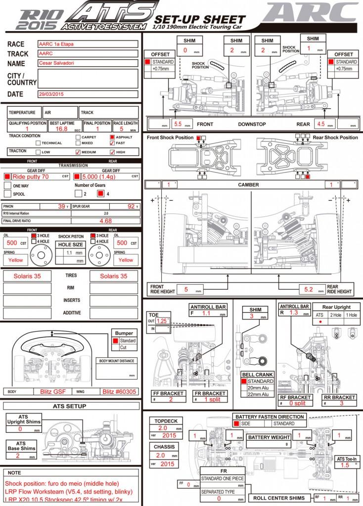 Setup ARC R10 - AARC (29/03/2015)