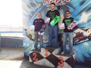 4a. Etapa SP 13.5T - Pódio (Campeão: Cesar, 2o. lugar: Dennis, 3o. lugar: Fabricio)